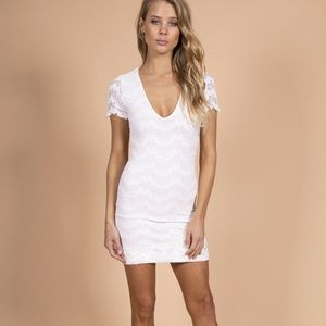 Nightcap Deep V Mariposa Lace Dress